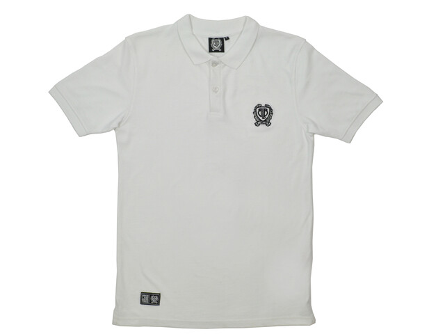 Brick Lane Bikes London Small Badge Polo Shirt Men White